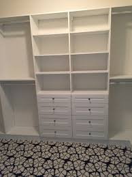Bedroom Closet Organization Compact White Small Closet Design With Drawer And Shelving Storage