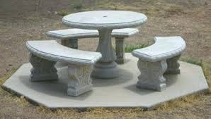Concrete Patio Tables And Benches Cement Patio Table Cement Patio Tables And Benches Holoapp Co