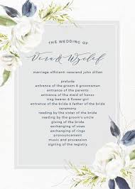 programs for wedding wedding programs match your colors style free basic invite