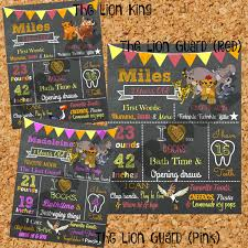 birthday chalkboard the lion guard birthday chalkboard 1st birthday chalkboard