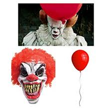 Pennywise Halloween Costume Halloween Killer Clown Mask Red Balloon Fancy Dress Pennywise