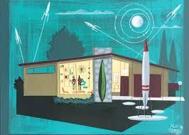 el gato gomez painting retro 1950 u0027s mid century modern ranch house
