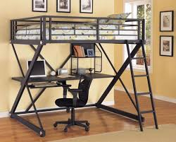 Bed Computer Desk Bedroom Design Contemporary Black Loft Bed Design With Computer