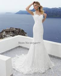 Aliexpress Com Buy Summer Cheap Ivory Lace Wedding Dress Mermaid