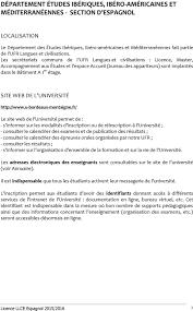 bordeaux 3 bureau virtuel guide de l étudiant licence llce espagnol pdf