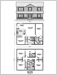 Rectangular House Floor Plans Simple Two Story Rectangular House Design With Kitchen Outdoor