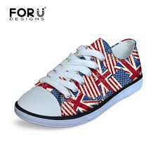 sport bike shoes forudesigns outdoor litlle girls uk flag canvas sneakers low top