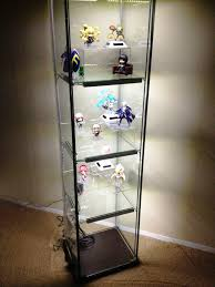 Glass Curio Cabinet With Lights Furniture Fantastic Curio Cabinet Ikea For Home Furniture Idea