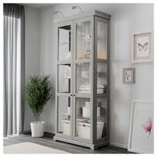 Ikea 2 Door Cabinet Liatorp Glass Door Cabinet Grey 96x214 Cm Ikea