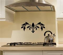embellishment scroll vinyl decal wall stickers oven back splash