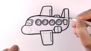 cartoon drawings of airplane how to draw a cartoon plane youtube