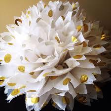 gold polka dot tissue paper 1 gold polka dot tissue paper pom pom metallic gold polka dots