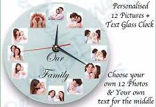 Personalized Clocks With Pictures Personalised Clock Clocks Ebay