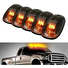 5pcs black smoked lens led cab roof marker lights