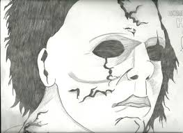 halloween michael myers in background michael myers face drawing image gallery hcpr
