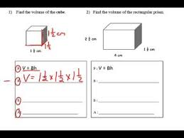 finding the volume of rectangular prisms with fractional sides