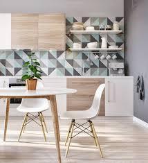 geometric tile kitchen backsplash atticmag
