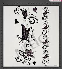 black white butterfly temporary tattoos for fingers wrist shoulder