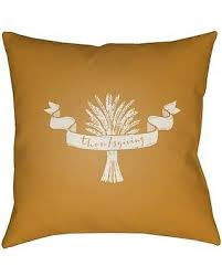 amazing deal surya wheat with thanksgiving ribbon outdoor pillow