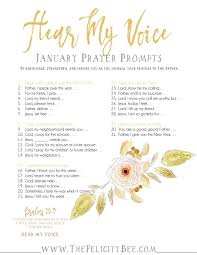 hear my voice january prayer journal prompts u2014 the felicity bee
