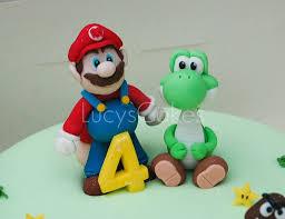 super mario and yoshi birthday cake toppers birthday cake cake