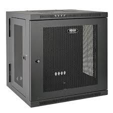 low profile av cabinet smartrack 10u low profile switch depth wall mount rack enclosure