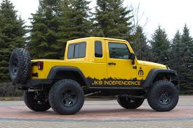 rubicon jeep modified jeep jk 8 independence wrangler unlimited pickup truck conversion