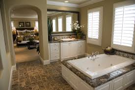 teal glass tile bathroom contemporary with beige countertop beige