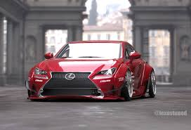 lexus rc red rocket bunny lexus rc readying for 2014 sema autoevolution