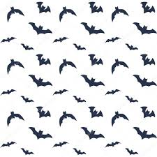 flying bats on white halloween pattern design for wrapping paper