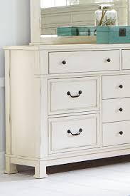 Standard Bedroom Furniture by Standard Furniture Chesapeake Bay Vintage White Dresser And Mirror