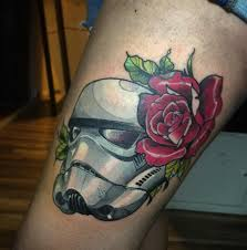27 roses and stormtrooper tattoos