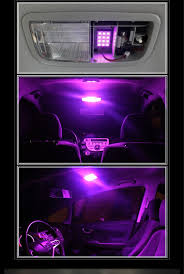 Ford Truck Interior Accessories 10x Purple Pink T5 3 Smd Led Bulbs Dashboard Gauge Side Door Light