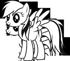 10 pony images coloring books