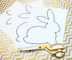 bunny printable cut out to use as a stencil diy chic easter