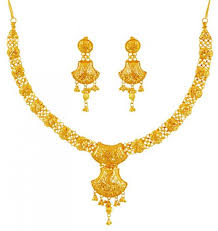 beautiful gold necklace set images 22k gold filigree necklace set ajns60196 beautiful indian jpg