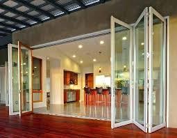 Frameless Patio Doors Exterior Folding Glass Doors Folding Exterior Door Modern Style