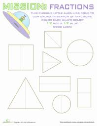 fraction shapes geometry worksheets worksheets and teaching