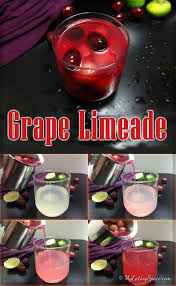 thanksgiving beverage grape limeade a non alcoholic drink my eating space