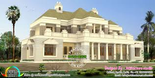 luxury bungalow style colonial model indian home design kerala