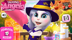 halloween kids background my talking angela halloween costume autumn background youtube