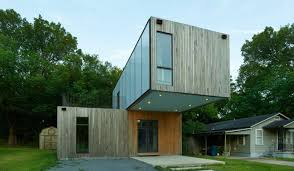 Prefab House by Arkansas University Students Designed This Prefab Cantilevering