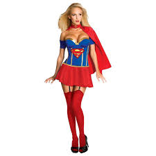 justice league supergirl corset costume buycostumes com