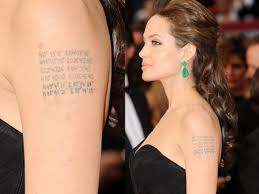 celebrity tattoos the whys and wheres of celebrities and their