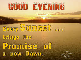 good evening quotes graphics