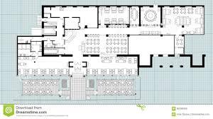 stock floor plans standard cafe furniture symbols on floor plans stock vector