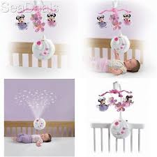 projection mobile toy disney minnie mouse baby sleep musical play