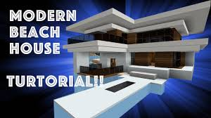 Modern Beach House by Minecraft Tutorial Modern Beach House 1 1 12 Youtube
