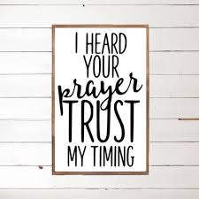 i heard your prayer wood sign scripture home decor wood