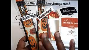 stampin up halloween stamps stampin u0027 up halloween treats teacher treats youtube